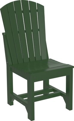 Amish Outdoors Island Adirondack Side Chair Green