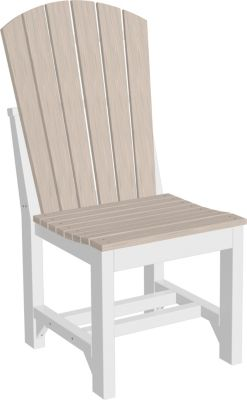 Amish Outdoors Island Adirondack Side Chair Birch/White