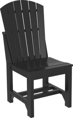 Amish Outdoors Island Adirondack Side Chair Black