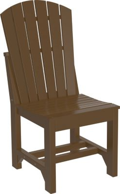 Amish Outdoors Island Adirondack Side Chair Chestnut