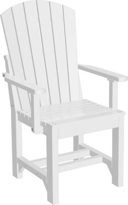 Amish Outdoors Island Adirondack Arm Chair White