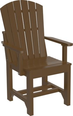 Amish Outdoors Island Adirondack Arm Chair Chestnut