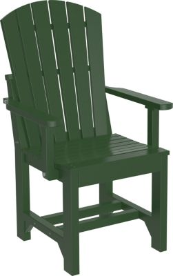 Amish Outdoors Island Adirondack Arm Chair Green