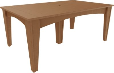 Amish Outdoors Island Rectangle Dining Table