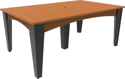Amish Outdoors Island Dining Table
