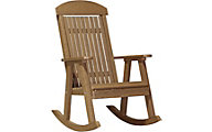 Amish Outdoors Grandpa Porch Rocker Ant Mahogany