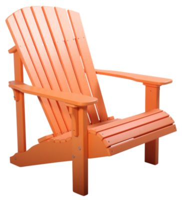 Amish Outdoors Orange Deluxe Adirondack Chair
