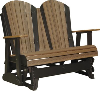 Amish Outdoors Adirondack Deluxe Outdoor Glider Loveseat