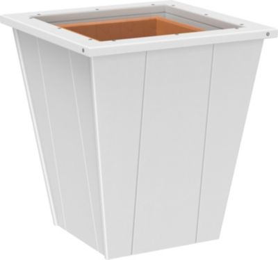 Amish Outdoors 18 White Planter