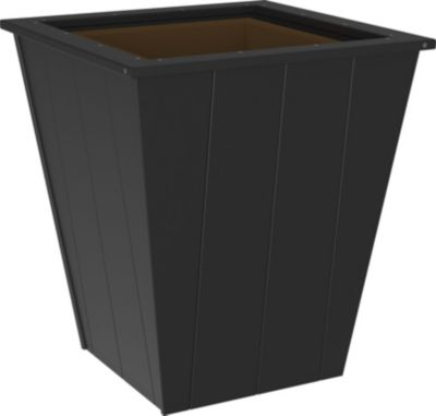 Amish Outdoors 26 Black Planter