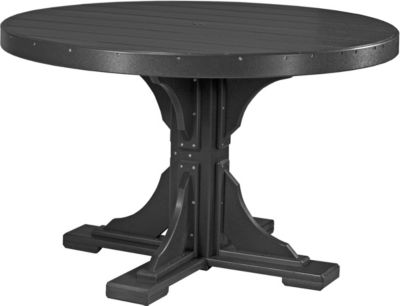 Amish Outdoors Black 4-Foot Round Dining Table