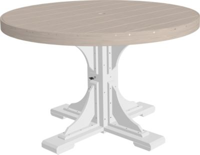 Amish Outdoors Birch and White 4-Foot Round Dining Table