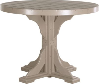 Amish Outdoors Weatherwood 4-Foot Round Counter Table