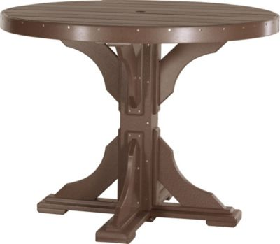 Amish Outdoors Chestnut 4-Foot Round Counter Table