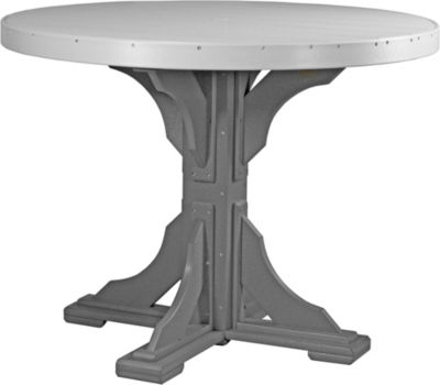 Amish Outdoors Gray and Slate 4-Foot Round Counter Table