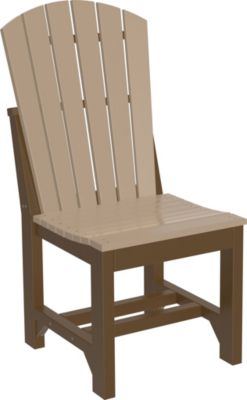 Amish Outdoors Island Adirondack Side Chair Weatherwood/Chestnut