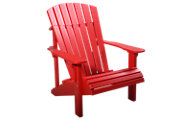 Amish Outdoors Red Deluxe Adirondack Chair
