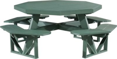 Amish Outdoors Poly Picnic Table Green Octangonal Picnic Table
