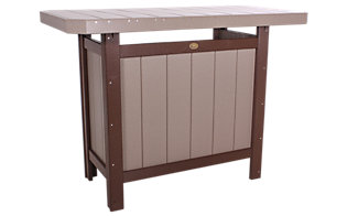 Amish Outdoors Poly Serving Bar