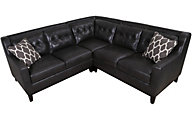 Kuka 1838 Collection Leather 3-Piece Sectional