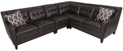 Kuka 1838 Collection Leather 4-piece Sectional