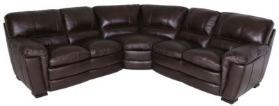 Kuka 5295 Collection 100% Leather 3-Piece Sectional