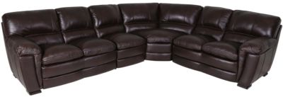 Kuka 5295 Collection 100% Leather 4-Piece Sectional