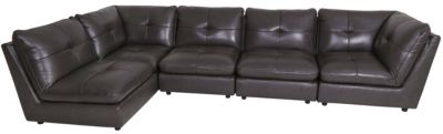 Kuka 5306 Collection 100% Leather 5-Piece Sectional