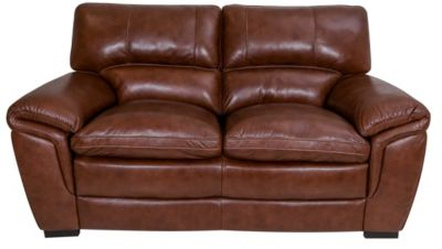 Kuka Huron 100% Leather Loveseat