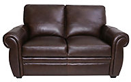 Kuka 5503 Collection 100% Leather Loveseat
