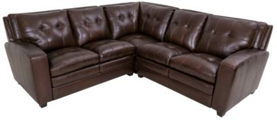Kuka 5015 Collection 100% Leather 3-Piece Sectional