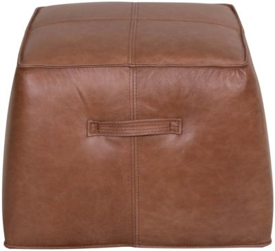 Kuka 5607 Collection 100% Leather Square Ottoman