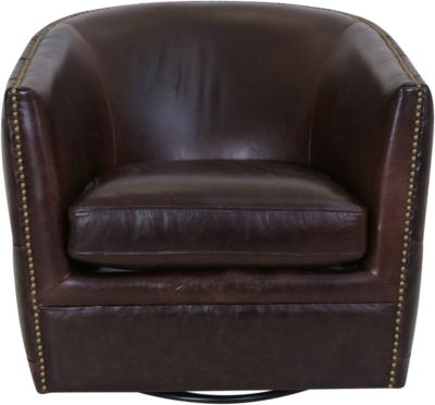 Kuka A1137 Collection 100% Leather Swivel Glider