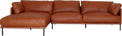 Kuka 1069 Collection 100% Leather Sofa with Left-Facing