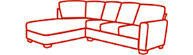 Right-facing (RAF) sofa sectional