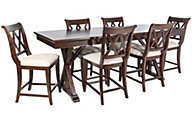 Legacy Classic Thatcher Counter Table & 6 Stools