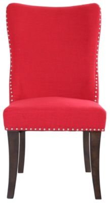 Liberty Platinum Formal Red Side Chair