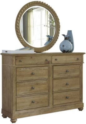 Liberty Harbor View 8-Drawer Dresser with Mirror