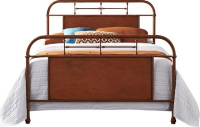 Liberty Vintage Series Orange Queen Metal Bed
