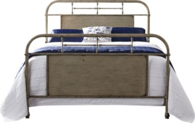Liberty Vintage Series White Queen Metal Bed