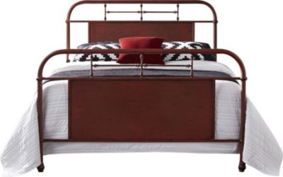 Liberty Vintage Series Red Twin Metal Bed