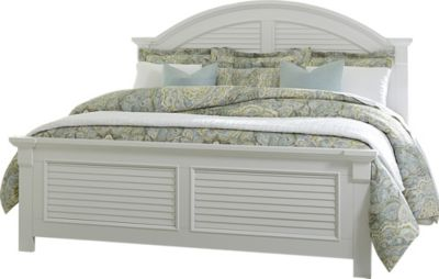 Liberty Summer House I White King Panel Bed