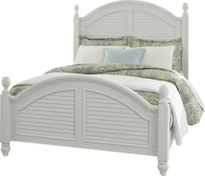 Liberty Summer House I White Queen Poster Bed