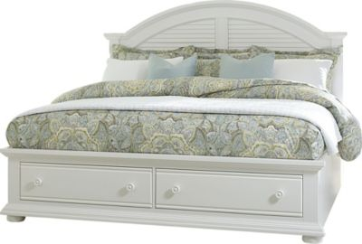Liberty Summer House I White Queen Storage Bed