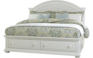 Liberty Summer House I White King Storage Bed