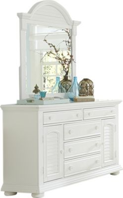 Liberty Summer House I White Dresser with Mirror