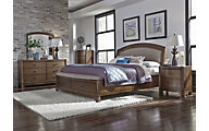 Liberty Avalon III 4-Piece Queen Uph. Storage Bedroom Set