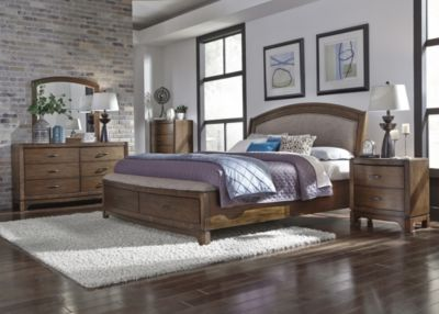 Liberty Avalon III 4-Piece King Uph. Storage Bedroom Set