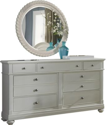 Liberty Harbor View III 8-Drawer Dresser with Mirror