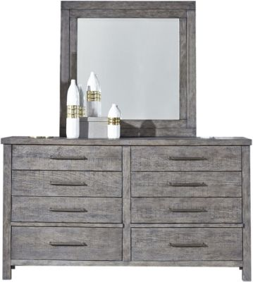 Liberty Modern Farmhouse Dresser with Mirror